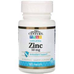 21st Century Chelated Zinc 50 mg
