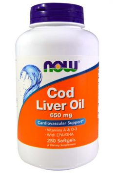 Cod Liver Oil 650mg, 250 soft