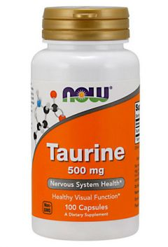 NOW Taurine 500 mg, 100 cap