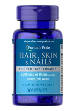 Puritan`s Pride Vitamins for the hair one per day formula