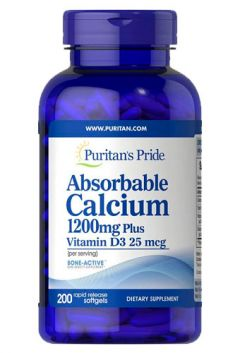 Absorbable Calcium 1200 mg plus vitamin D3 25 mcg