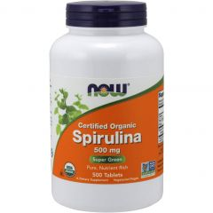 NOW Spirulina 500 mg, 500 tab