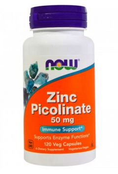 NOW Zinc Plicolonate 50 mg, 120 cap